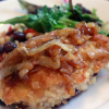 Thumbnail image for Stuffed Chicken with Cranberries, Gruyere and Melted Onions