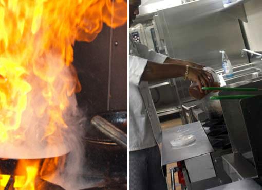 culinary school flambe